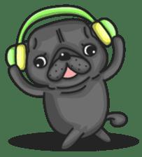 Kuro Pug sticker #8549909