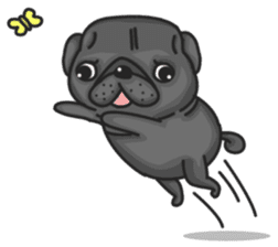Kuro Pug sticker #8549910