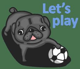 Kuro Pug sticker #8549913