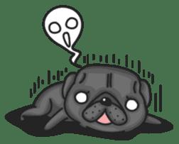 Kuro Pug sticker #8549919