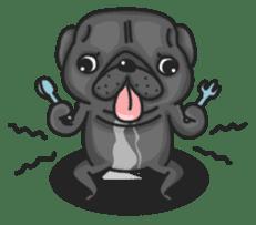 Kuro Pug sticker #8549921