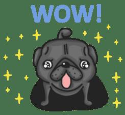 Kuro Pug sticker #8549923