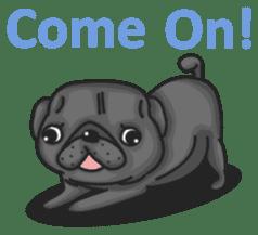 Kuro Pug sticker #8549927