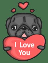 Kuro Pug sticker #8549928