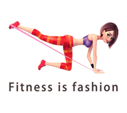 Sporty girl Tanya sticker #8551408