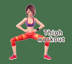 Sporty girl Tanya sticker #8551409