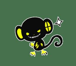 Shadow monkey light up! sticker #8555834