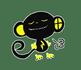 Shadow monkey light up! sticker #8555838