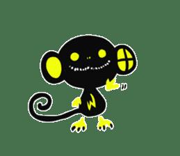 Shadow monkey light up! sticker #8555839