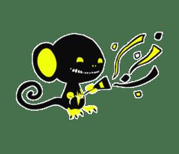 Shadow monkey light up! sticker #8555840