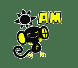 Shadow monkey light up! sticker #8555845
