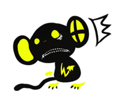 Shadow monkey light up! sticker #8555854