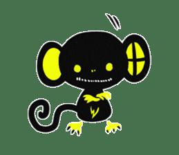 Shadow monkey light up! sticker #8555857