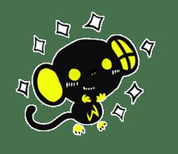 Shadow monkey light up! sticker #8555858