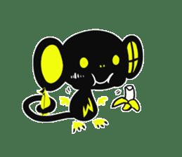 Shadow monkey light up! sticker #8555863