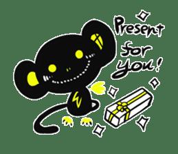 Shadow monkey light up! sticker #8555866