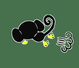 Shadow monkey light up! sticker #8555869