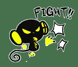 Shadow monkey light up! sticker #8555871