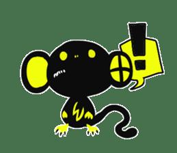 Shadow monkey light up! sticker #8555873