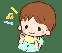 Housewife speaking honorific sticker #8564026