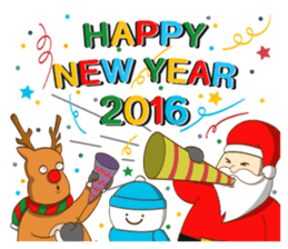 It's time for X'mas and New Year sticker #8568571