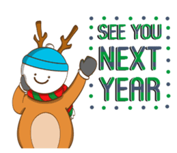 It's time for X'mas and New Year sticker #8568593