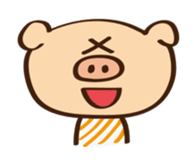 Gana Pig sticker #8600778