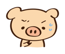 Gana Pig sticker #8600790