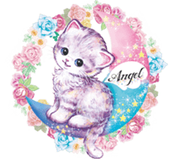 Lovely fashionable cats sticker #8600978
