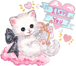 Lovely fashionable cats sticker #8600980