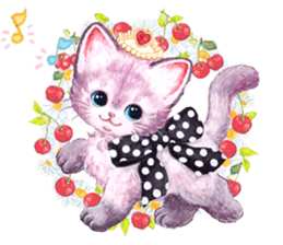 Lovely fashionable cats sticker #8600984