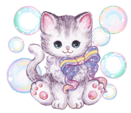 Lovely fashionable cats sticker #8600986