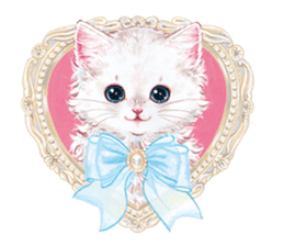 Lovely fashionable cats sticker #8600988