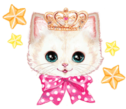 Lovely fashionable cats sticker #8600994