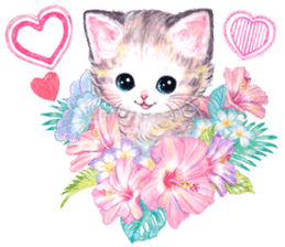 Lovely fashionable cats sticker #8600997
