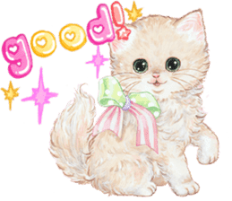 Lovely fashionable cats sticker #8600998