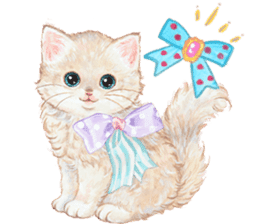 Lovely fashionable cats sticker #8600999