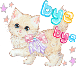 Lovely fashionable cats sticker #8601000