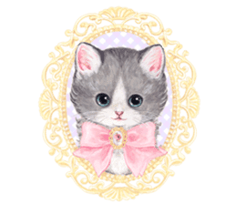Lovely fashionable cats sticker #8601001