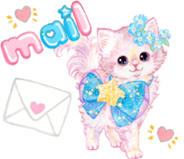 Lovely fashionable cats sticker #8601002