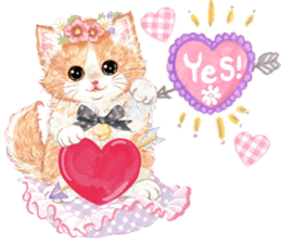 Lovely fashionable cats sticker #8601003
