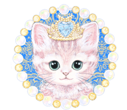 Lovely fashionable cats sticker #8601004