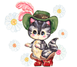 Lovely fashionable cats sticker #8601011