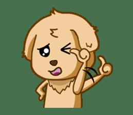 I like Golden Retriever!! sticker #8601258