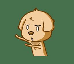 I like Golden Retriever!! sticker #8601288