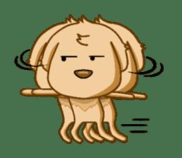 I like Golden Retriever!! sticker #8601289