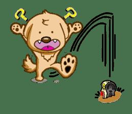 I like Golden Retriever!! sticker #8601290