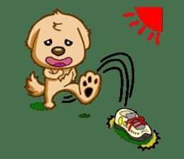 I like Golden Retriever!! sticker #8601293