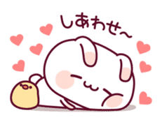 Sweet nothings of a rabbit and the chick sticker #8612597