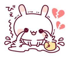 Sweet nothings of a rabbit and the chick sticker #8612603